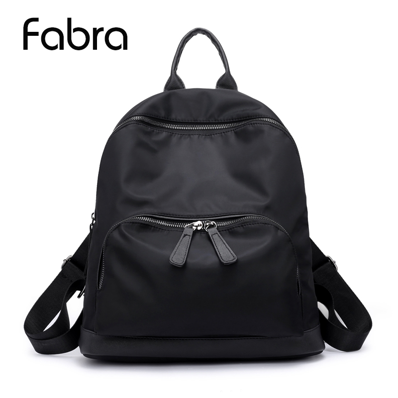Fabra Brand Women Backpack Waterproof nylon School Bags Students Backpack Women Travel Bags Shoulder Bag for Teenager Girls women backpack 2016 solid corduroy backpack simple tote backpack school bags for teenager girls students shoulder bag travel bag