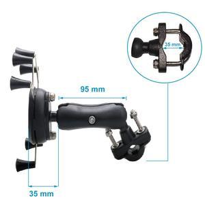 Image 3 - Универсальный держатель для телефона для велосипеда, мотоцикла, MTB, с регулируемой рейкой, X Grip, для iPhone, Samsung, GPS