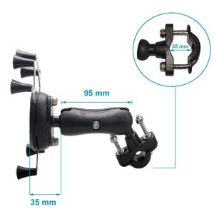 Image 3 - Universal Bike Bicycle Motorcycle MTB Bike Phone Holder Adjustable Rail Mount/X Grip Phone Holder For iPhone For Samsung For GPS