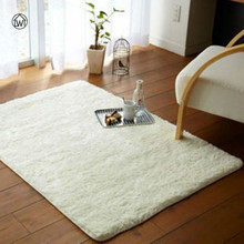 Large Size Long Plush Carpet Flokati Tea Table Mat Soft Yoga Rug Anti-skid Carpet For Living Room Bedroom Bath Doormat Floor Mat
