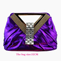 Free shipping!! fashion women handbag  purple 1308-402A