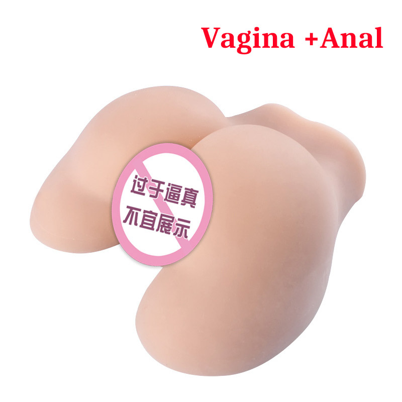 <font><b>Sex</b></font> <font><b>Doll</b></font> <font><b>Big</b></font> Ass Plump <font><b>Butt</b></font> Soft TPE Realistic VAGINA & ANUS for Male Masturbation Sextoys Adult Products artificial <font><b>sex</b></font> torso image