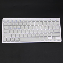 Fashion Ultra-Slim White General High Quality Bluetooth Wireless Keyboard For PC Laptop Tablet Smart phone For iPad