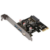 USB 3.1 Type-C + 2 usb 3.0 type-A + SATA PIN intestazione USB Scheda Pci-E Desktop PCI Express a USB3.1 Adapter via chip