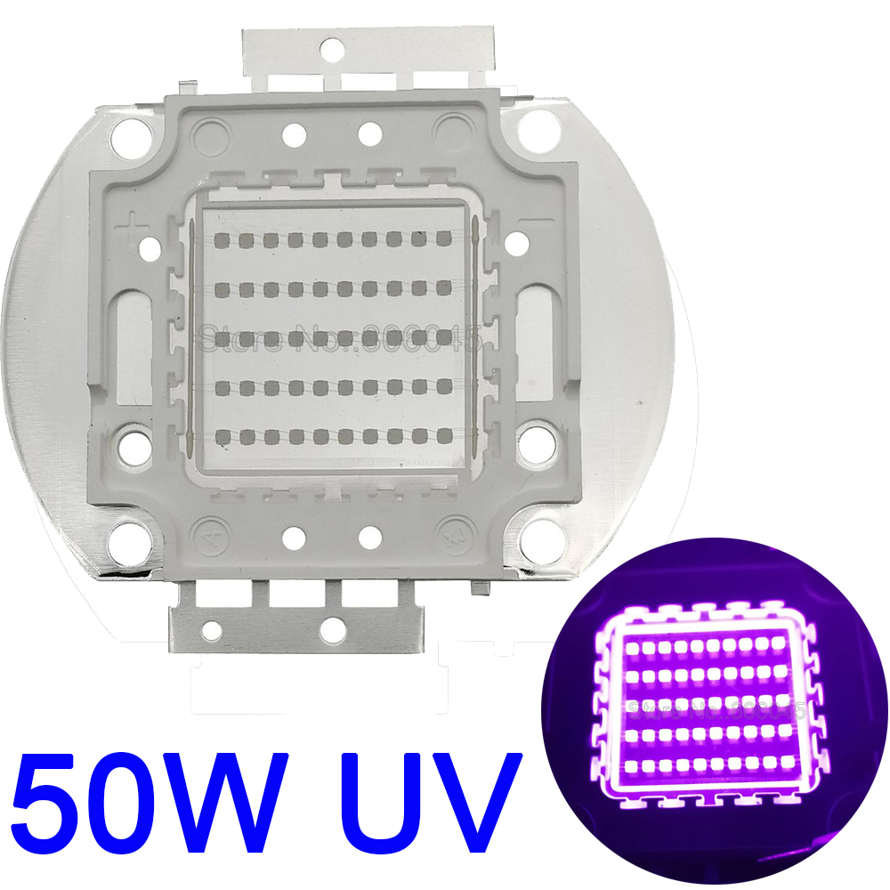 50W UV Purple LED Ultraviolet Bulbs Lamp Chips 365nm 380nm 395nm 420nm 50W High Power Light DC30-36V 1.5A Multichip LED
