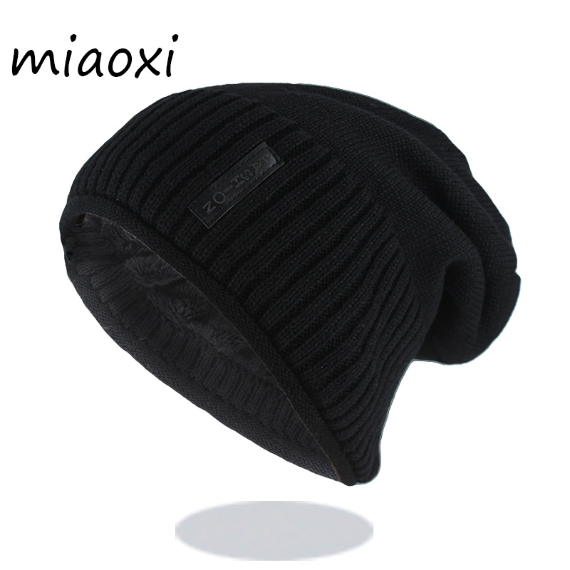 New Style Fashion Men Winter Warm Hat Caps Casual Wool Brand Cotton Beanies For Adult Hip Hop Knitted Bonnet Sale