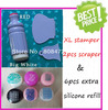 Free Shipping Extra XL Stamper Plug Refill Nail Art Stamping Head With XL Stamper Set 2PCS