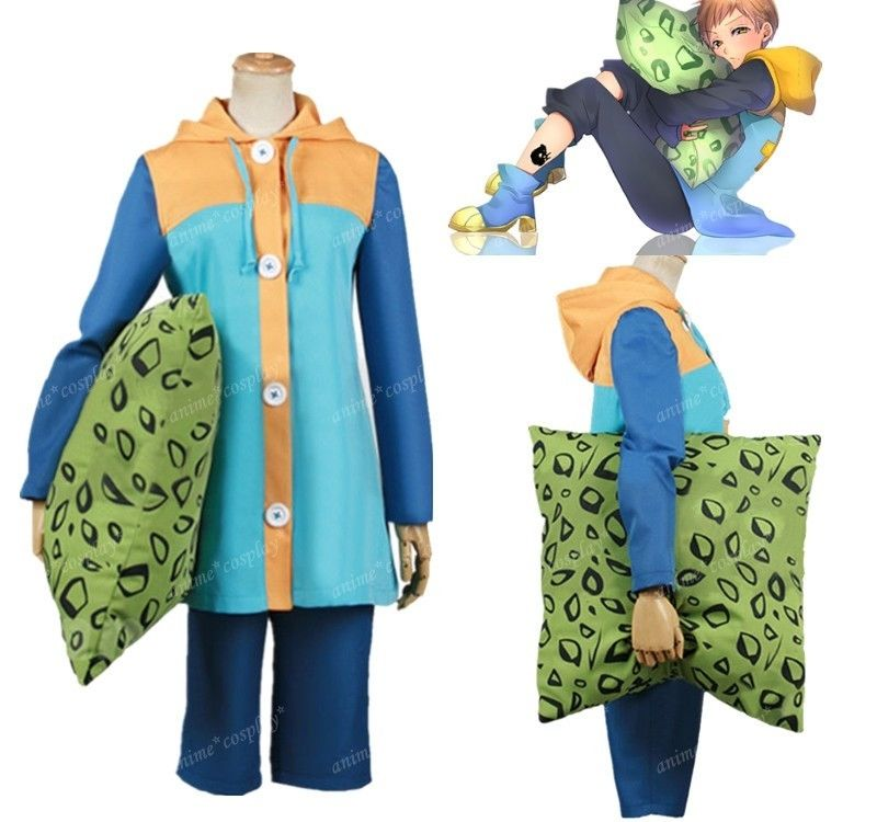 The Seven Deadly Sins Harlequin King Cosplay Costume A016