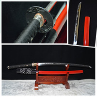 Japoński samuraj handmade 1095 hamonatana sword pełna tang ostrze ze stali węglowej eagle tsuba katanas sharp może ciąć bambusy hurtowa