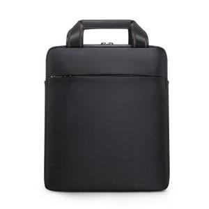 Image 2 - Men Small Briefcase Vertical Document Pack Mens Single Shoulder 12 inch IPAD Bag Male Waterproof Nylon Messenger Bag Sac Homme