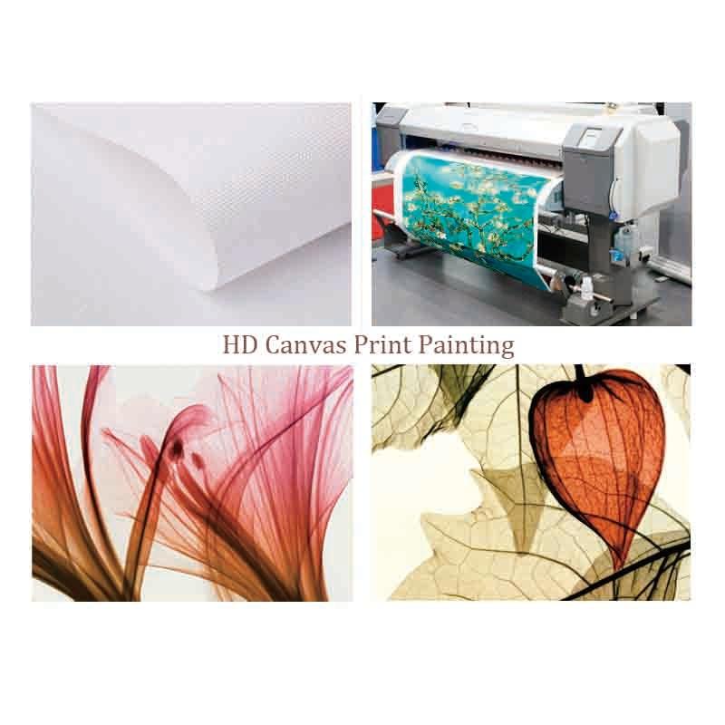 Okvir 5 ploča slika uljem platna bijeli svijeća cvjetni modularni - Kućni dekor - Foto 4