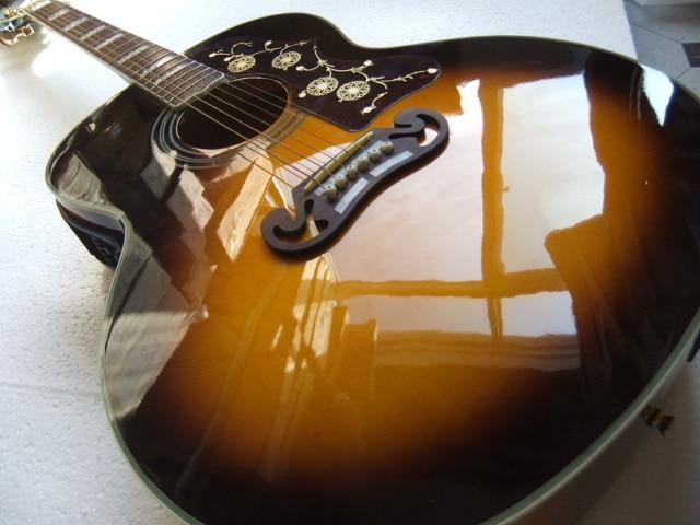 New Arrival Electric Acoustic Guitar SJ200 Model eT-5 Pick ups In Vintage Sunburst 100918 g j 200 acoustic dreadnought guitar natural solid spruce acoustic guitar in stock vintage sunburst