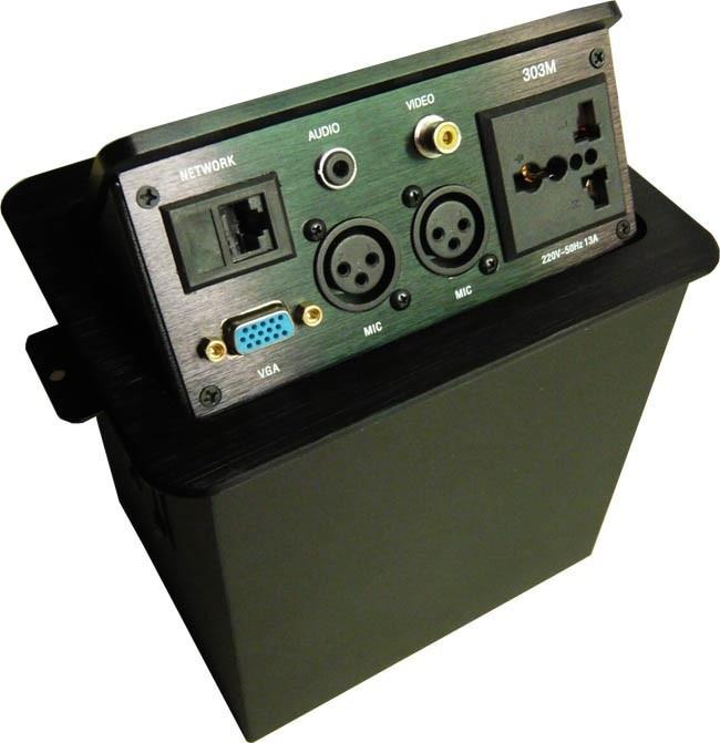 ФОТО HDMI/VGA Video, audio,USB network/Pneumatic/gas pop up aluminum alloy advanced multimedia desktop gas table hidden socket outlet