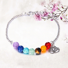 Fashion Elegant Lotus Colorful 7 Chakra Yoga Bracelet Healing Balance Beads Reiki Natural Stones Women New Hot Jewelry