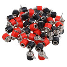 50pcs 4mm Banana Panel Socket Test Probe Binding Post Nut Plug Jack Connector