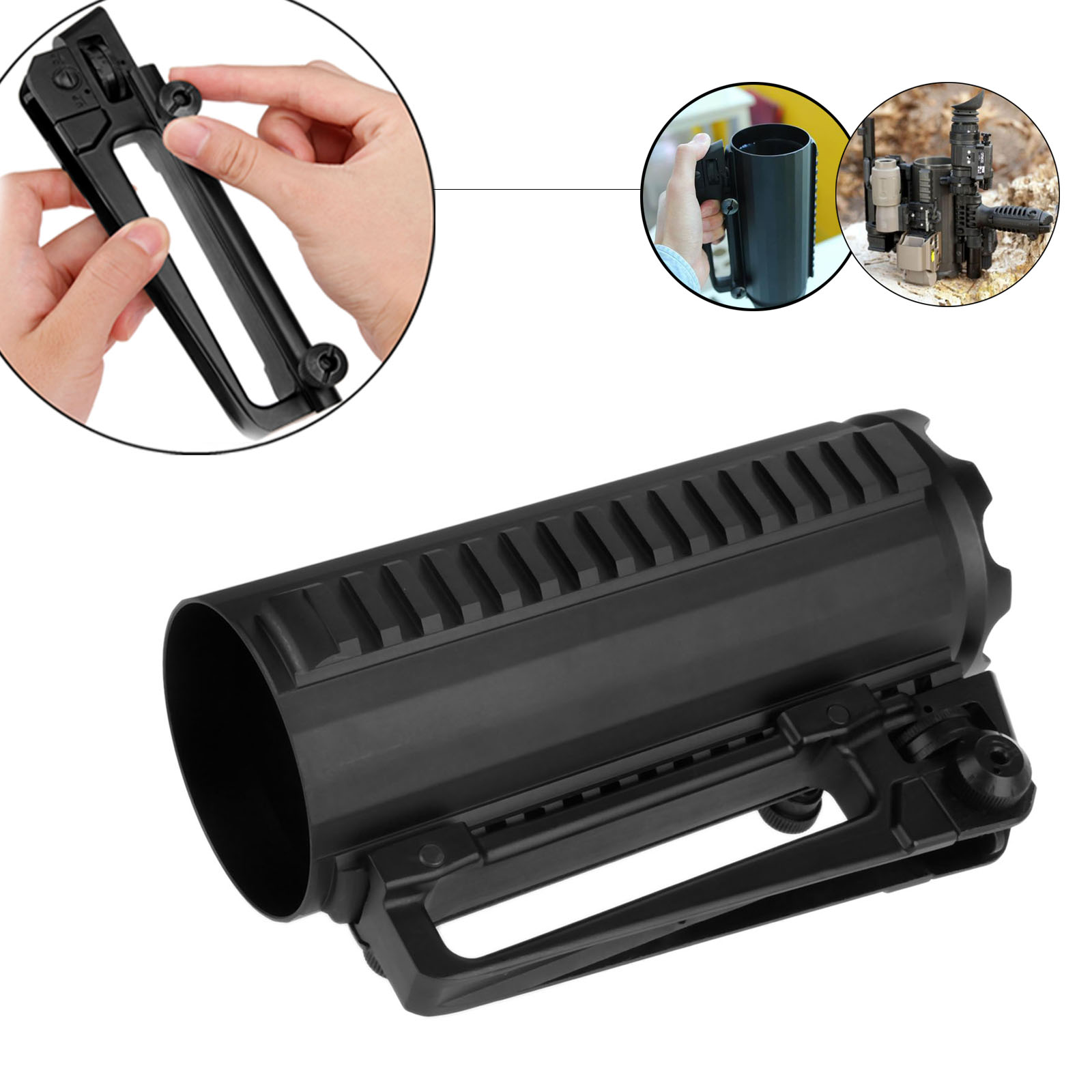 Nylon Rail Flattop QD Quick Release Carry Handle Rear Sight For Most Mossberg