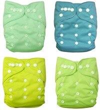 ALVABABY venta al por mayor, 100 Uds. De pañales de tela de ante liso con insertos de microfibra para bebé