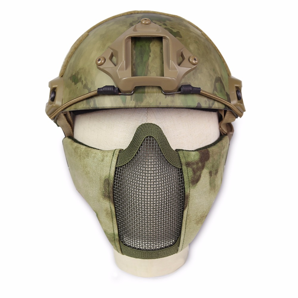 New Tactical Hunting Steel Wire Half Mask Outdoor Bicycle