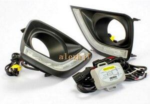 Luz led drl diurna con función de atenuación para Toyota MARK X REIZ 2011 ~ 13, calidad superior