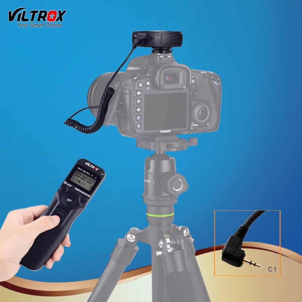 Viltrox JY-710 C1 Camera Wireless Timer Remote Control Shutter Release Control LCD Display for Canon 200D 100D 80D 77D 1300D 1 2 lcd wired remote shutter release for canon camera black