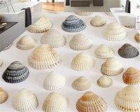 Beibehang חומר מתקדם pvc טפט 3d ציור יפה 3d ציור ריצוף חוף חלום פגז דגי חול פארדה דה papel