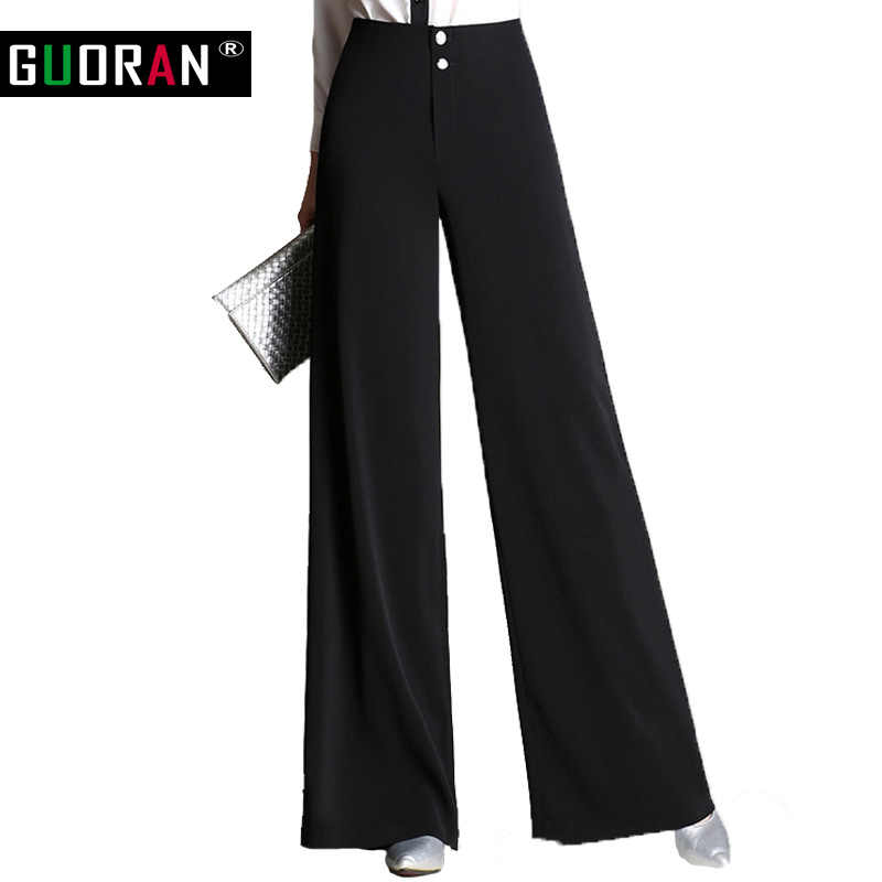 Women's wide leg pants straight Loose fashion high waist Plus size women pants Long Female Trousers Formal work pantalon femme