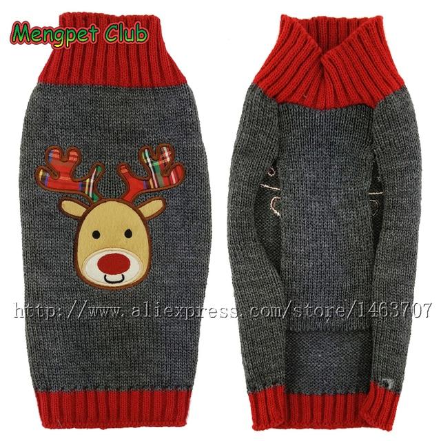 Ropa para perros navidad del gato del perrito invierno , jersey de ...