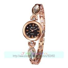 100pcs/lot E-LY 8270 oval belt lady bracelet watch with big crystal special style wrap quartz elegance watch wholesale clock(China)