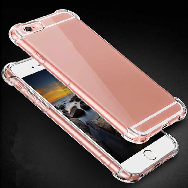 Étui souple en silicone Transparent pour 7 7plus 8 8plus X XS MAX XR étui pour iphone de téléphone Transparent 11 Pro Max 5 5s SE 6 6s Plus