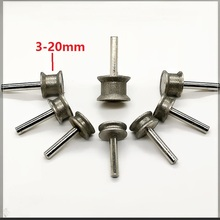 Nova 1 pcs 6mm shank Diamante grinding wheel para chanfrar borda de Vidro plano em linha reta 180 #