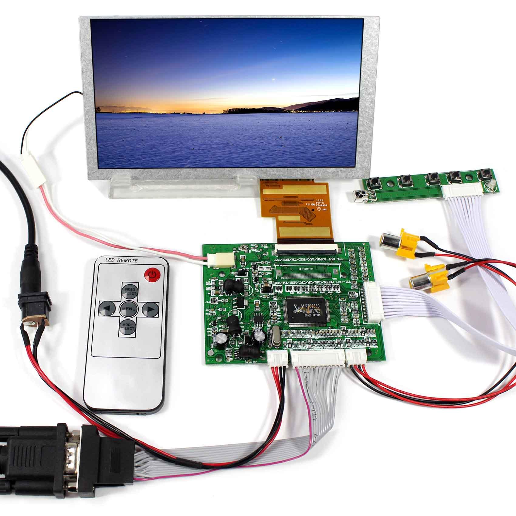 6.2inch HSD062IDW1 800x480 LCD Display+VGA 2AV Reversing LCD Driver Board VS-TY5060-V1 vga 2av audio reversing lcd driver board 10 1inch n101bge 1366 768 lcd panel