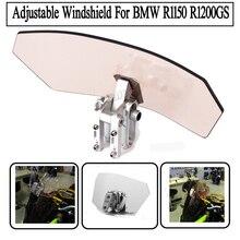 Motorcycle Variable Спойлер Ветрового Болт-На Воздушный Поток Регулируемая Лобовое Стекло Для BMW R1150 R1200GS Все Лобовое Стекло Модели