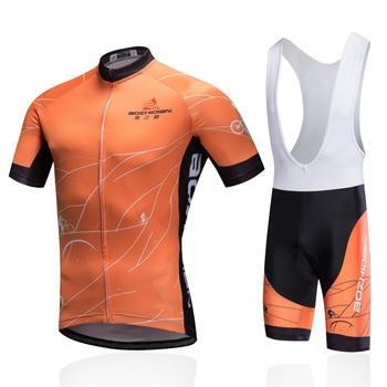 Brand Summer Pro Team Men Women Bike Jerseys Sets Cycling Cycle Short Sleeve Jersey Shirt bib shorts Set Sport Suit Orange