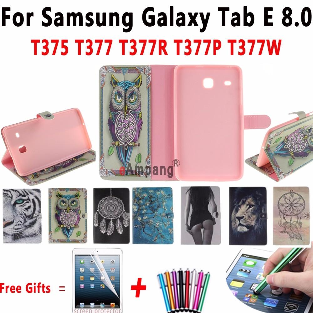 Мода окрашенные кремния мягкая Обложка с подставкой и слот для карт для Samsung Galaxy Tab E 8.0 дюймов T375 T377 T377R T377P T377W