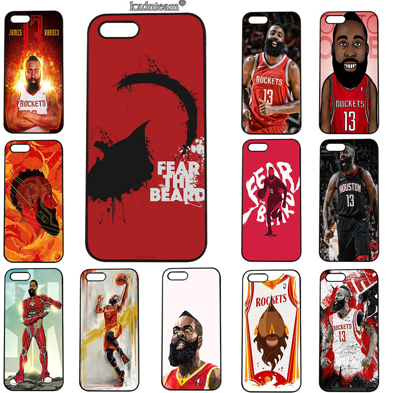 Mobile Phone Cases James Harden Basketball Hard PC Plastic Cover for iphone 8 7 6 6S Plus X 5S 5C 5 SE 4 4S iPod Touch 5 6 Shell