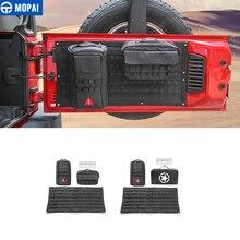 MOPAI Car Interior Tailgate Storage Bag & Tool Kit & Camping Mat Cargo Organizer Bag Saddlebag For Jeep Wrangler JK Accessories