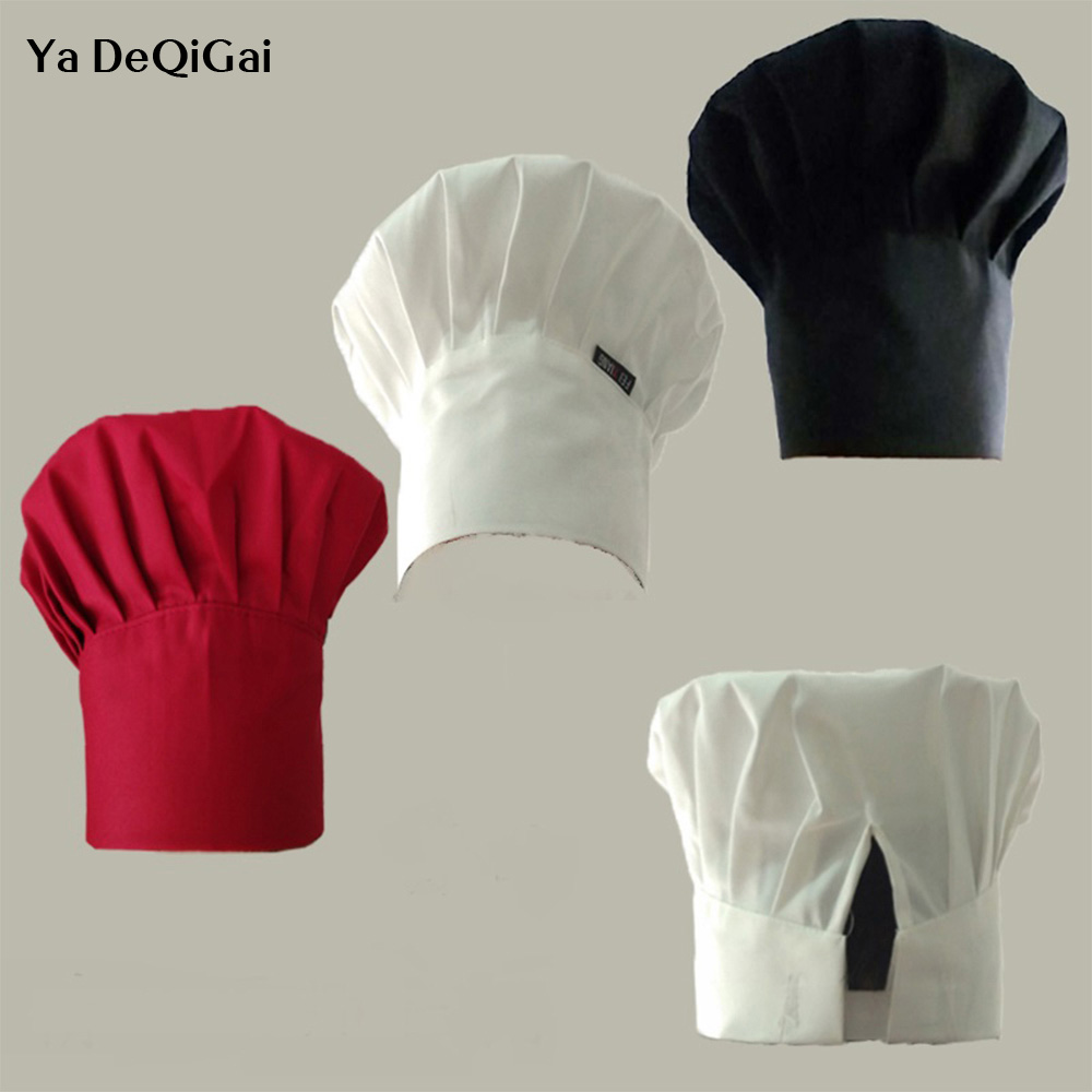 Unisex Wholesale New Fold Cap High Chef Waiter Adjustable Hats Adult Restaurant Hotel Hats Bakery Canteen Food Service Chefs Hat