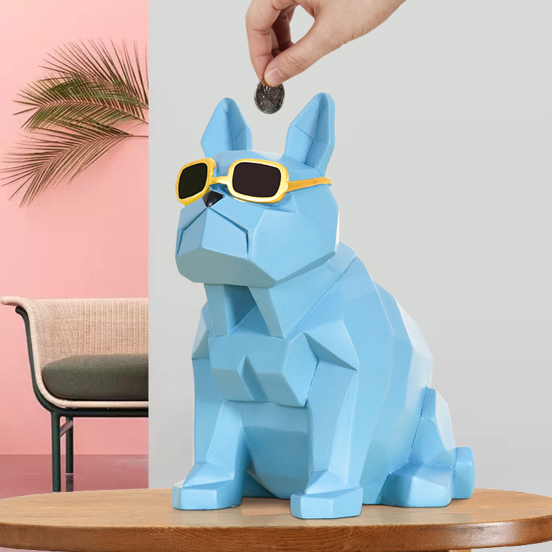 Creative Dog Shape Money Boxes Ins Creative Kids Coin Box Home Decoration Ins Cute Resin Crafts Christmas Gifts Drop Shipping