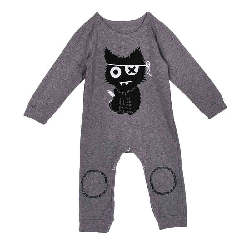 Hot Kids Baby Boys Girls Warm Romper Long Sleeve Infant Jumpsuit Cotton  Clothes Outfits X16 a26694907a5b