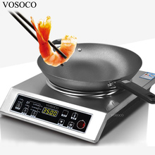 VOSOCO Electromagnetic furnace 3500W 10 gear concave electromagnetic oven Touch type commercial induction cooker Hot pot