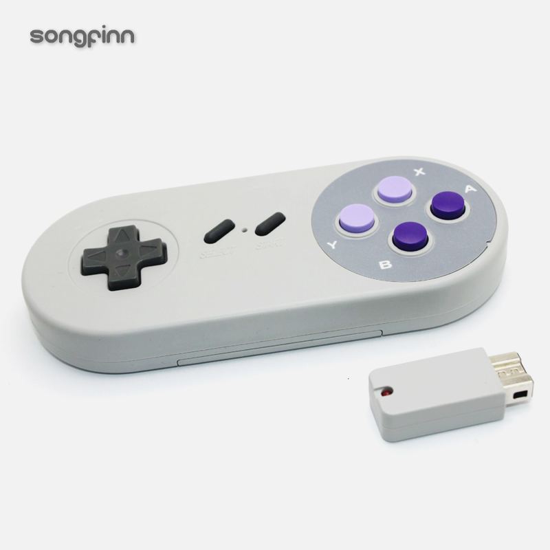 SONGFINN Wireless Bluetooth Controller Gaming Joypad Joystick for mini 2017 SNES Classic ...