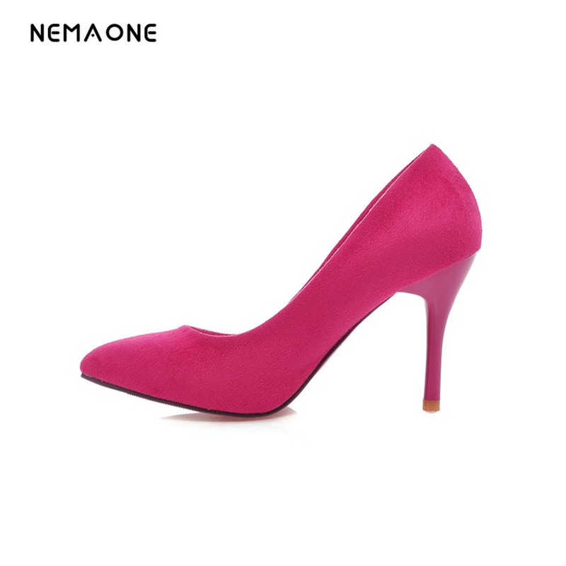 NEMAONE stiletto Women Pointed Toe Red bottom high heel Fashion Sexy High Heel Shoes Women Pumps wedding shoes high heels