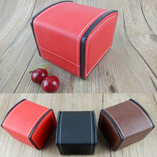 купить New Watch Box Faux Leather Square Jewelry Watch Case Display Gift Box With Pillow Cushion High-grade PU Leather Curved Watch Box по цене 299.6 рублей