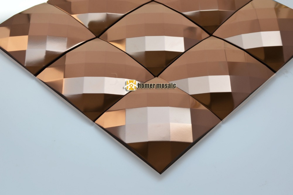 25 face diamond 3D rose gold stainless steel metal mosaic tile moder living room kitchen backsplash bathroom shower metal tiles rose gold stainless steel metal mosaic glass tile kitchen backsplash bathroom background decorative art mosaic wall tile sa073 9
