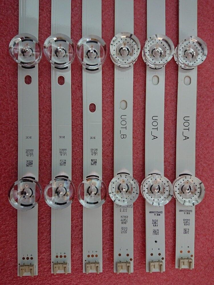 Image 5 - New Original Kit 3 PCS 6LED LED strip for LG 32LF560V LGIT UOT A B 6916L 1974A 1975A 6916L 2223A 6916L 2224A innotek DRT 3.0 32-in Light Beads from Lights & Lighting