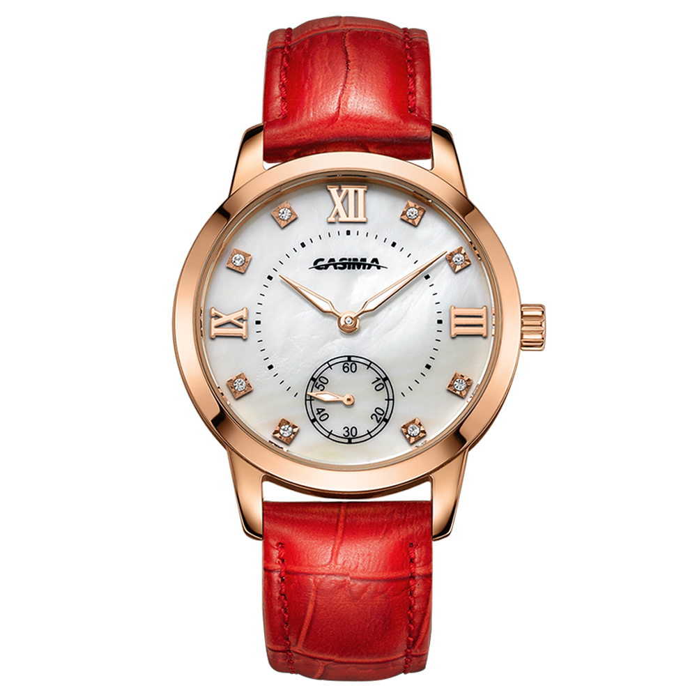 New Fashion Business Leisure Luxury Brand CASIMA Ladies Watch 33mm Leather Strap Casual charm Quartz wrist watch Reloj Mujer