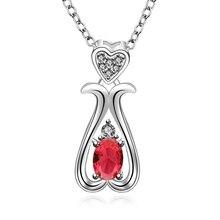 N664a стерлингового серебра 925 полые капли воды с сердце кристалл камень ожерелье женщины свадьба модные украшения