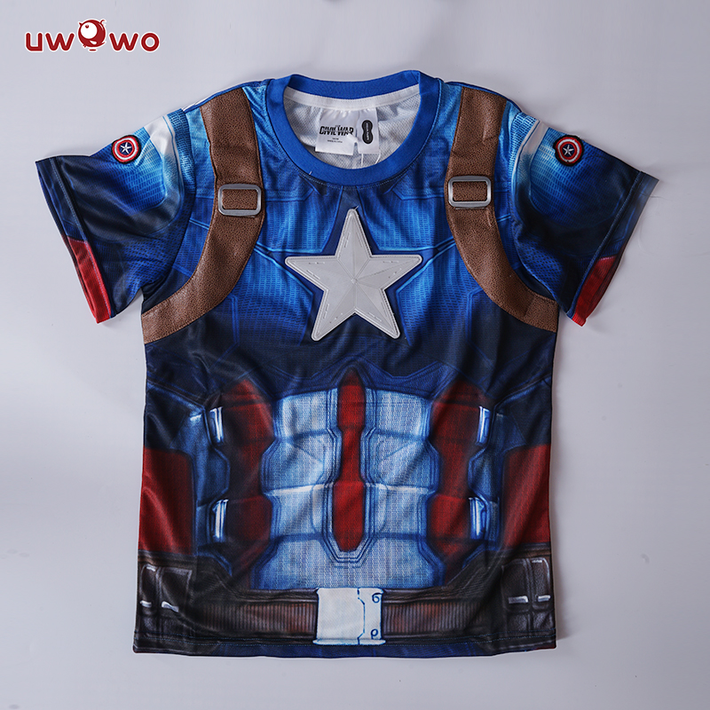 UWOWO America Captain Cosplay Costume Movie Justice Hero Anime Cosplay Set Party Cosplay for Boys Costumes