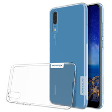 For Huawei P20 case Huawei P20 lite case P20 pro case NILLKIN Ultra Thin Transparent Nature Clear TPU Soft Back shell cover(China)