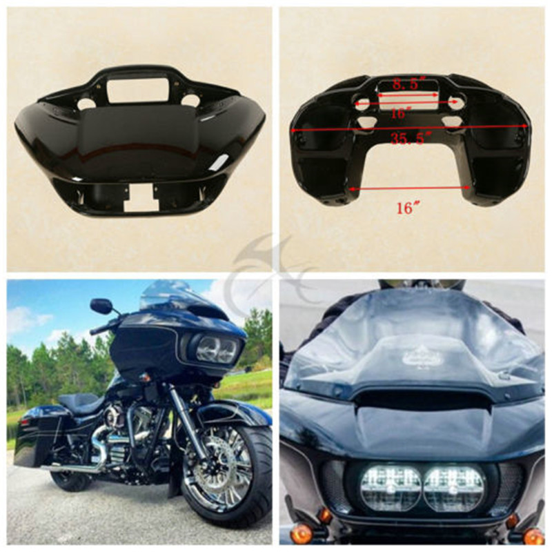 ABS Painted Black Inner Outer Fairing For Harley Road Glide FLTRX 2015 2018 16 Motorcycle Accessories in Covers Ornamental Mouldings from Automobiles Motorcycles